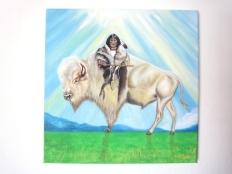 Weißes Büffelkalbfrau